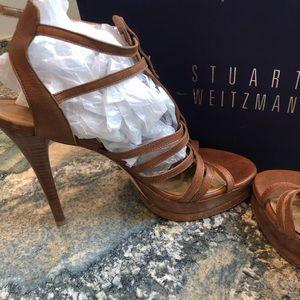 Stuart Weitzman Gladiator Strappy Sandal Heels